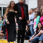 Freshman Audrey Goode and junior Nathan Newby.