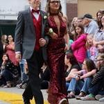 Sophomore Kevin Carter and senior Harleigh Drake.