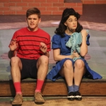 Junior Aidan Harries, who played Linus Van Pelt, and Shaw.