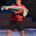 Junior Aidan Harries, known as Linus Van Pelt in the show.