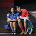 Lucy Van Pelt and Linus Van Pelt (sophomore McKenna Shaw and junior Aidan Harries).