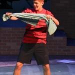 Junior Aidan Harries, known as Linus Van Pelt in the show.