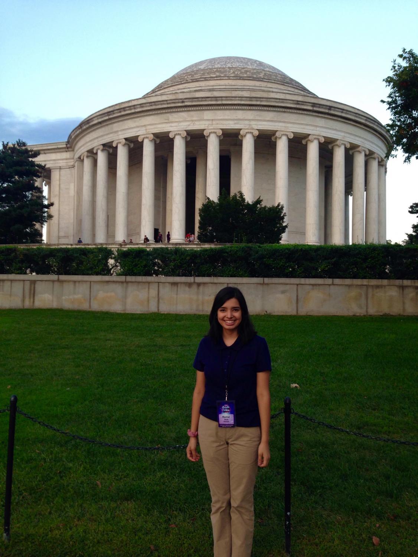 Junior Rachel Ruiz attended a HOSA in Washington D.C.