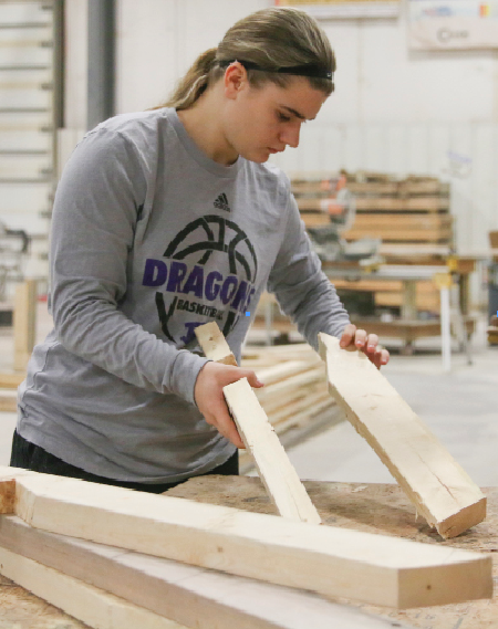 Sophomore Kassidy O'Dell  in the Career and Technical Education Center (CTEC) class.