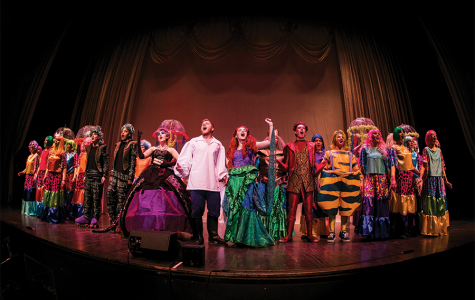 Full cast of the Little Mermaid on the Jesters stage.