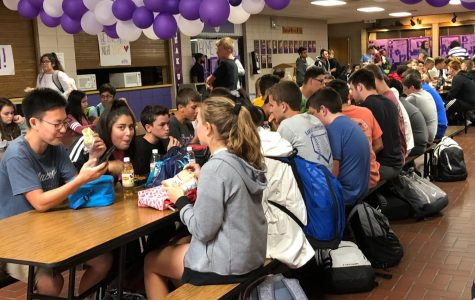 With the new lunch schedule, students must remain seated except when standing in line for food, travelling to the restroom, or throwing away trash.