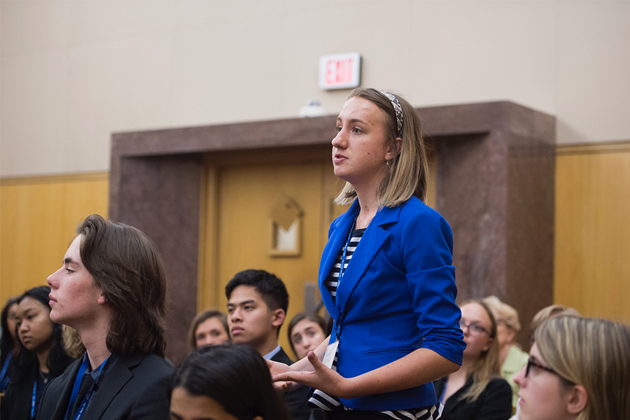 Senior Nicole Konopelko shares her thoughts on student journalism at the Al Neuharth Free Spirit and Journalism Conference. 51 student journalists are selected to represent their state in the all-expenses paid journalism conference. This year, Konopelko represented Kansas.