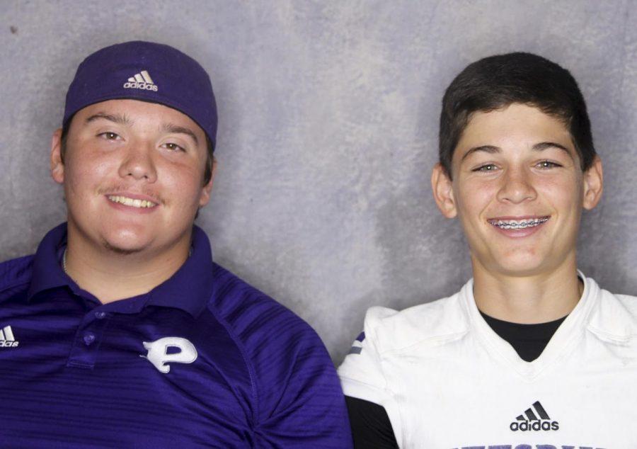 Freshman+JJ+White+and+junior+Matt+Cicero+pose+for+a+photo
