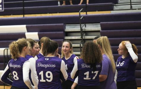 C-team volleyball hosts quad tournament Columbus-Sept. 3