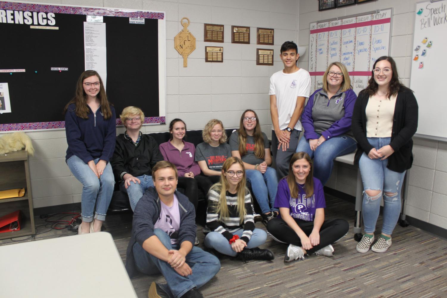 Members of the NSDA Student Council.