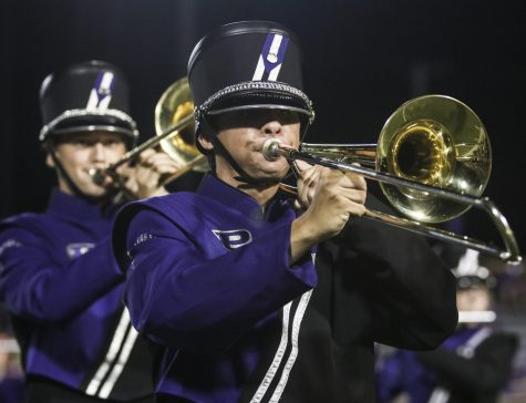 Band's annual glow show lights up Hutch Field