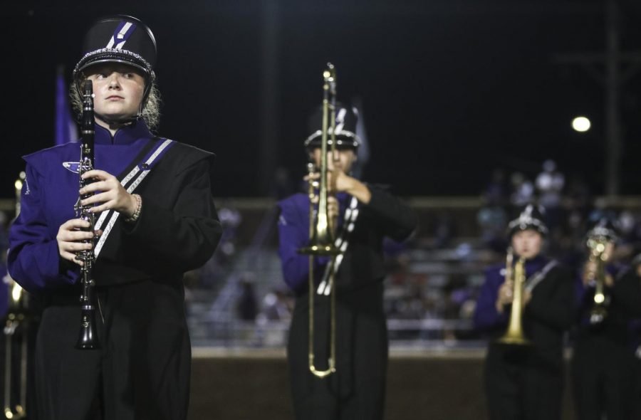 On September 13, during halftime, marching band performed a melody that has been worked on since the beginning of the school year.
