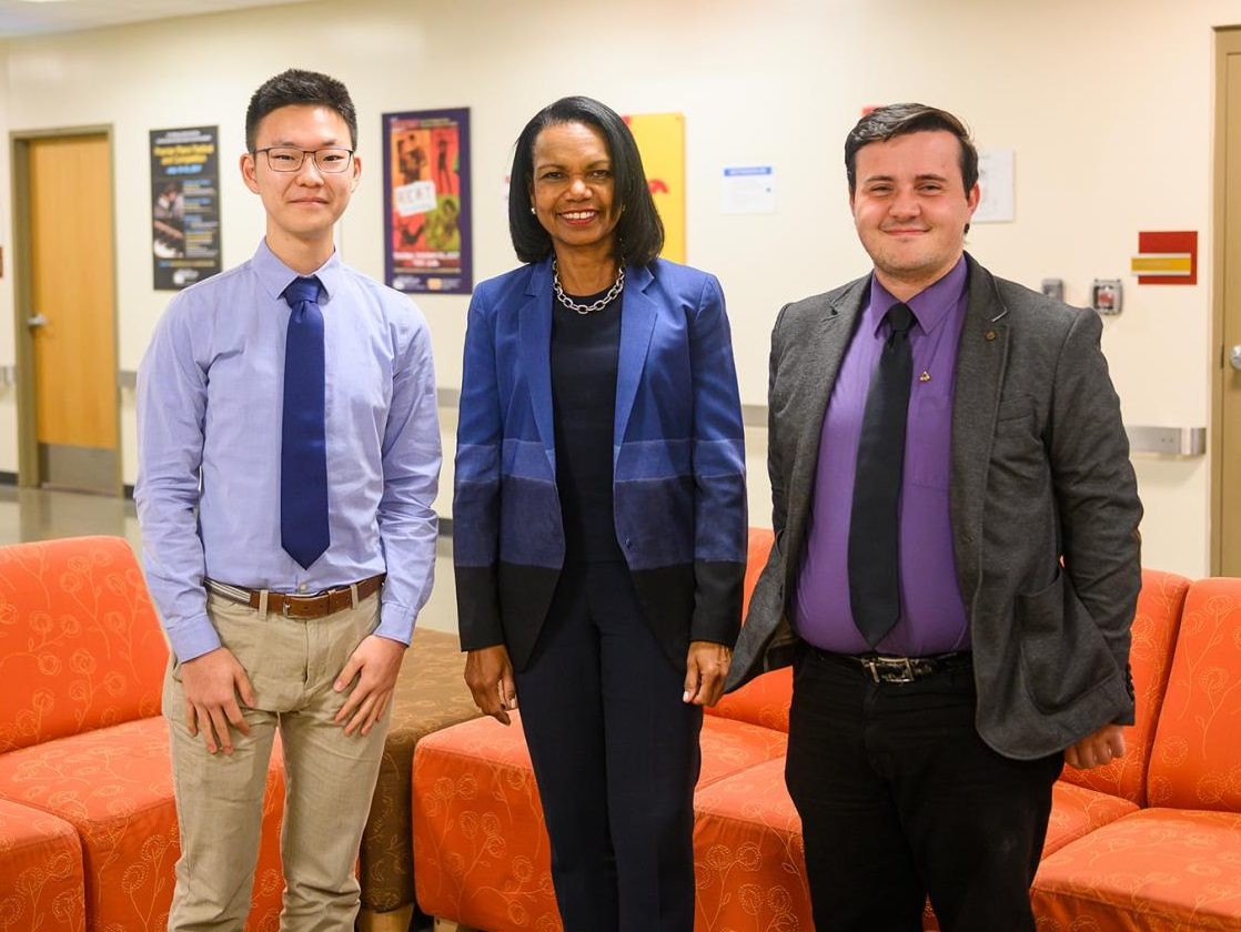 Junior Joseph Lee met with former Secretary of State Condelezza Rice on her Oct. 3 visit to Pittsburg.