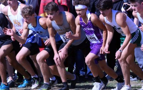 Sophomore Camron Jefferson competes at XC state