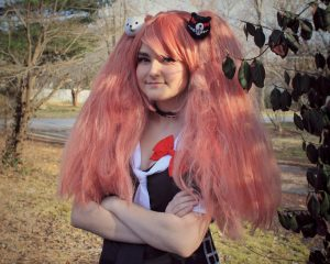 Lexi Ketchum cosplays as Junko from the anime video game series Danganronpa.