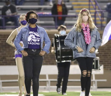 Student drum majors conduct band through pandemic