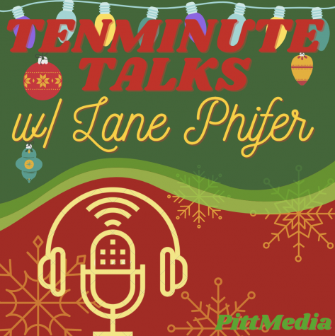 This photo showcases the logo for the December issue used for the podcast TenMinuteTalks hosted by senior Lane Phifer.