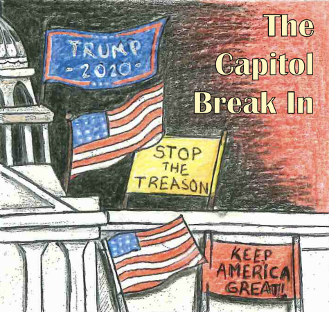 This illustration showcases the capitol break in that occurred on Jan. 6, 2021.