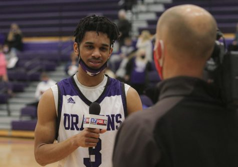 Javon Grant being interviewed by KOAM after the game against Field Kinley.