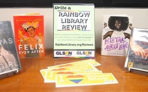 A showcase of the books featured in the Rainbow Library.