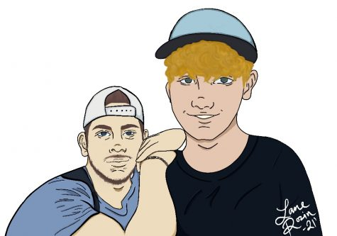Above is an illustration of sophomore Hayden Murphy and his brother Bryce Murphy.