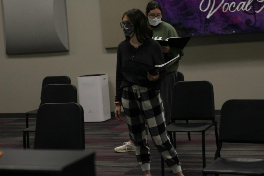 Working on her craft is Ella Rhuems in musical repertory theatre.